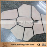 Outdoor Natural Cream Floor And Wall Tile Design Slate Stepping Stone