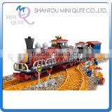 Mini Qute DIY classical train rail track Transport vehicle action figure plastic building block model educational toy NO.25710