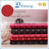 wholesale popular cheap red black dot 100 cotton cutom printed fabric for bed sheeting in stock