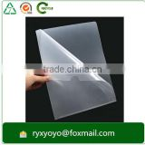 waterproof L shape pp clear plastic a4 size sheet protector