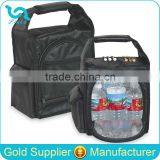 "10"" Small Black Nylon Golf Cooler Bag Insulated Bag Cooler Bag With Aluminum Foil Liner"
