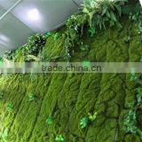 home decor hot selling products for 2015 Artificial plastic green moss wall on sale