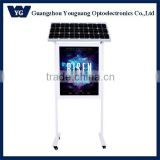 Solar powered Rectangle Shape and Aluminium profile Solar LED light box, Solar sign panel