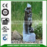 garden ornaments fiberglass bronze naked lady fountain