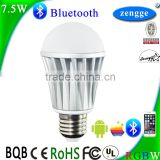 Smart Lighting Led Desk Lights 7.5w RGBW Bluetooth Led Bulb Smart Home Control System IOS/Android APP