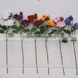 New design China pure hand made rose flowers wholesale silk flowers artificial with best price
