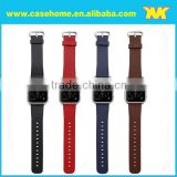 Customized latest design leather wristband strap belt for apple watch many colors