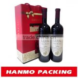 customized cardboard wine boxes desging your own brand logo