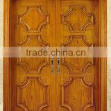 CUSTOMIZED Exterior SINGLE or DOUBLE ENTRY SOLID WOOD FRONT DOOR. HAND CARVED!
