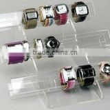 3 tiers round tube acrylic watch/bangle display holder jewelry wrist watch rack