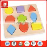 Top Bright EN71 and ASTM wooden toy shape matching board
