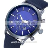 High quality double layer genuine leather custom brand sport style mens classic quartz watch