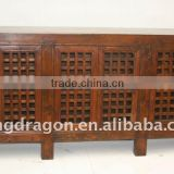 Chinese Antique Wooden Low Bookcase Cabinet / kitchen cabinet