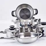 Cook N home Popular 8pcs stainless steel cookware set nonstick cookware stockpot with steamer (XM-6037C)