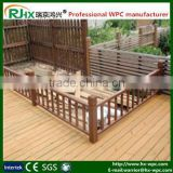 Professional wood plastic composite decking for public garden fence manufacturer from Jiangxi Ruijing Hongxing WPC factory