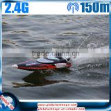 Summer toy! 2.4G 4CH rc high speed racing boat with water cooling system, 35km/h, brushless motor