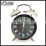"4"" home decor metal large vintage bell alarm clock,wholesale hot selling alarm clock"