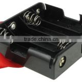 "4 ""AA"" Battery Holder w/ Leads and Ribbon,BH348-R battery holder ,AA battery holder"