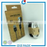 Popular CYMK printing paper packaging for usb cable packaging                                                                                                         Supplier's Choice