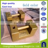 20kg class M1 mass, high quality cast iron elevator weight, load test weights,gold color