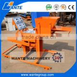WANTE BRAND high production WT2-40 manual interlocking brick making machine clay brick machine
