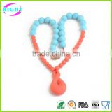 Variours design teething necklace silicone baby teether