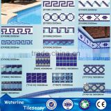 decorative swimming pool ceramic wall tile borders