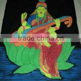 batik wall hangings hindu goddess laxmi