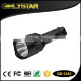 Onlystar GS-9483 Aluminum waterproof powerful flashlight torch light rechargeable battery