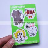2016 lovely animal design flat paper die cut fridge magnets set