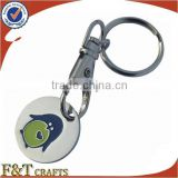 embossed logo shopping trolley token coin keychain                                                                         Quality Choice