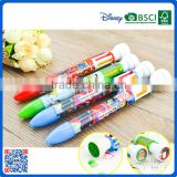 2016 new style fancy multicolor plastic ball pen with stamp back to school                                                                                                         Supplier's Choice