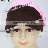 Wholesale baby boutique crochet hat knit hat baby photo prop beautiful 2012 fashion baby girl hats