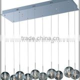 UL Listed Modern Decorative Design Hotel Hanging Light With Ten Crystal Ball Lights C60525