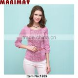 3/4 sleeve lace ladies-tops-latest-design ladies-tops-images ladies blouses and tops 2014