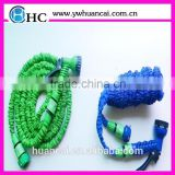Best quality elastic garden hose, green fabric flat garden hose , expandable garden hose