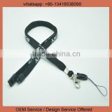 Custom design neck strap lanyard braided neck lanyards