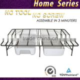 Queen size storage steel mattress bed frame