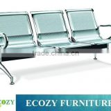 Stainless steel public bench, waiting room public chair, metal airport waiting room chairs