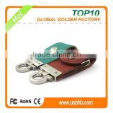 Real Capacity Leather PenDrive & metal keyring PenDrive & pen drive usb 2.0 64gb