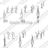 Surgical Micro CASTROVIEJO VANNAS NOYES WECKER Scissors Spring Type Flat Handles Medical Instruments