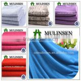Shaoxing Mulinsen textile clothing fabric made by German machine, soft wool hand feeling hacci angora fabric