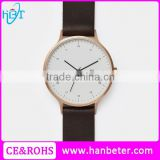 2016 Latest Design Gold Color White Face Men Watches With Custom Made Watch Dials