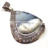 925 sterling silver jewelry wholesale wholesale gemstone pendant Dendrite Agate 925 jewelry
