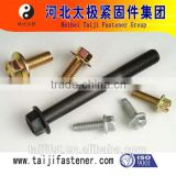 high strength hex flange head bolt for grade 8.8 with zinc plated