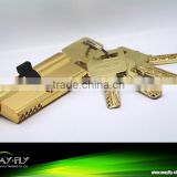 High qulity brass lock cylinder, safe lock cylinder,TRI-CIRCLE high security lock cylinder
