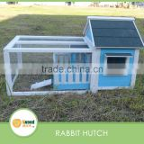 Outdoor wooden Blue Bunny Cages with lovely balcony Pet houses