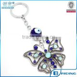 2015Brand New Animal Keychain wholesale glass blue eye bead