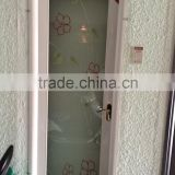 Frosted glass water resistant aluminum bathroom door with latest design