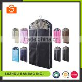 Fashionable Customized wholesale non woven fabric black wedding dress cover bag,suit cover bag,garment bag